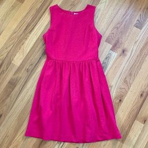 J. CREW Pink Fit 'n Flare Dress Size Small EUC!